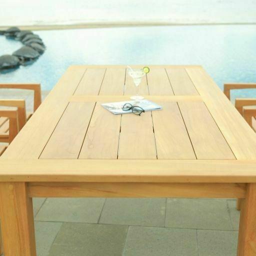 Mesa de Teca Rectangular Rustic