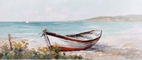 Barco en la playa.