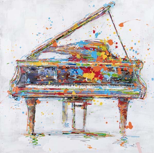 Cuadro moderno de un Piano
