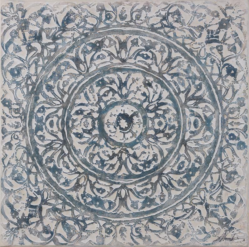 Cuadro: Mandala en relieve 100x100cm.