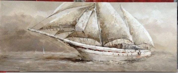 Pintura: Barco 60x150cm.