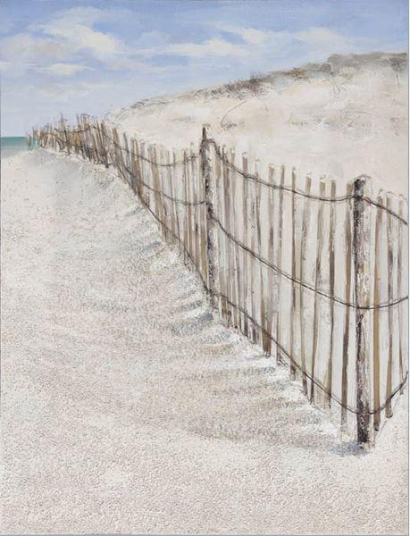 Playa con barrera a la derecha