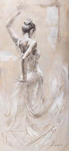 Flamenca con vestido blanco