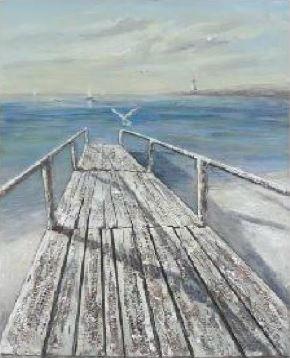 Cuadro del Mar con Puente