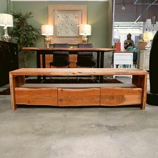 mueble de tv de madera de acacia