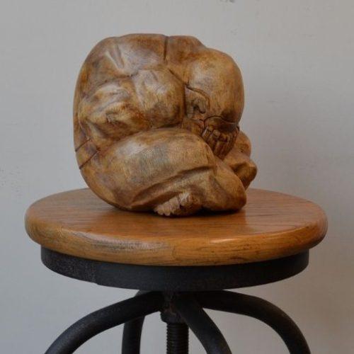 Escultura de un yogi