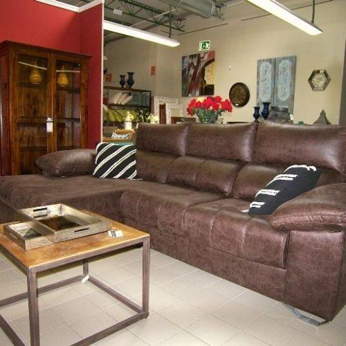 sofá chaise longue de microfibra
