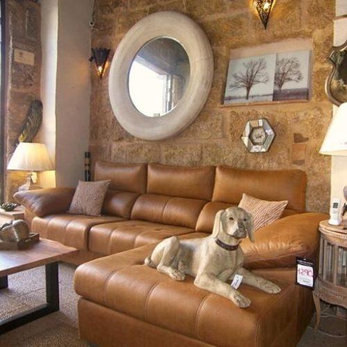 sofá chaise longue de microfibra cuero