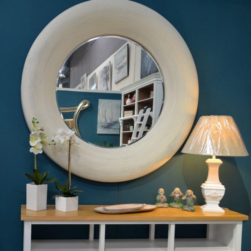 Espejo Bergamo Blanco