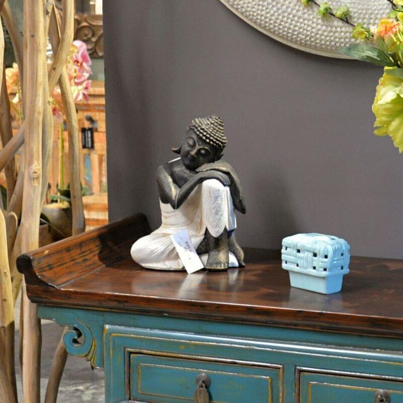 Buda Sentado Blanco