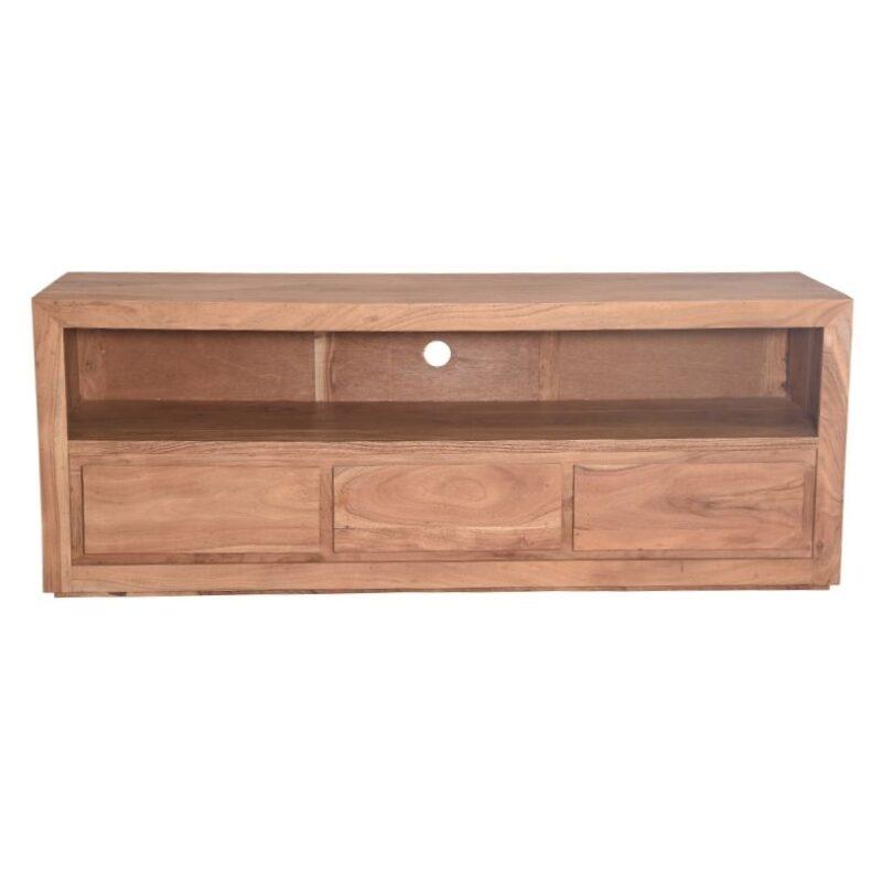 Mueble de Tv de Acacia con 3 cajones