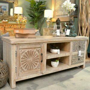 Mueble de Tv de Madera de Mango