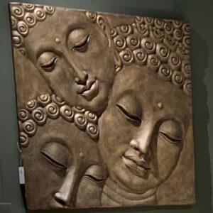 Relieve de 3 Cabezas de Buda