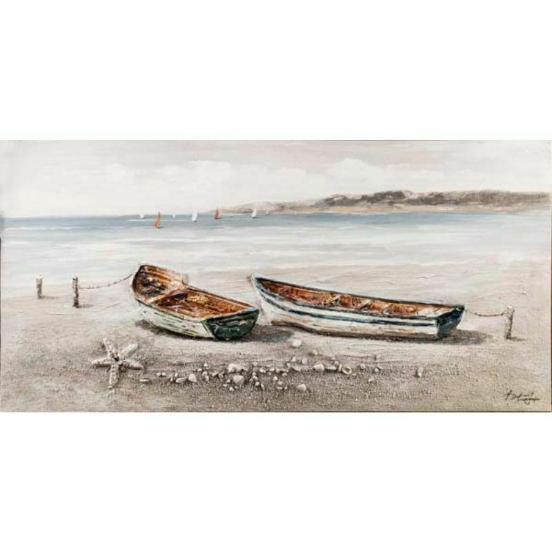 Cuadro de 2 Barcas en la Playa