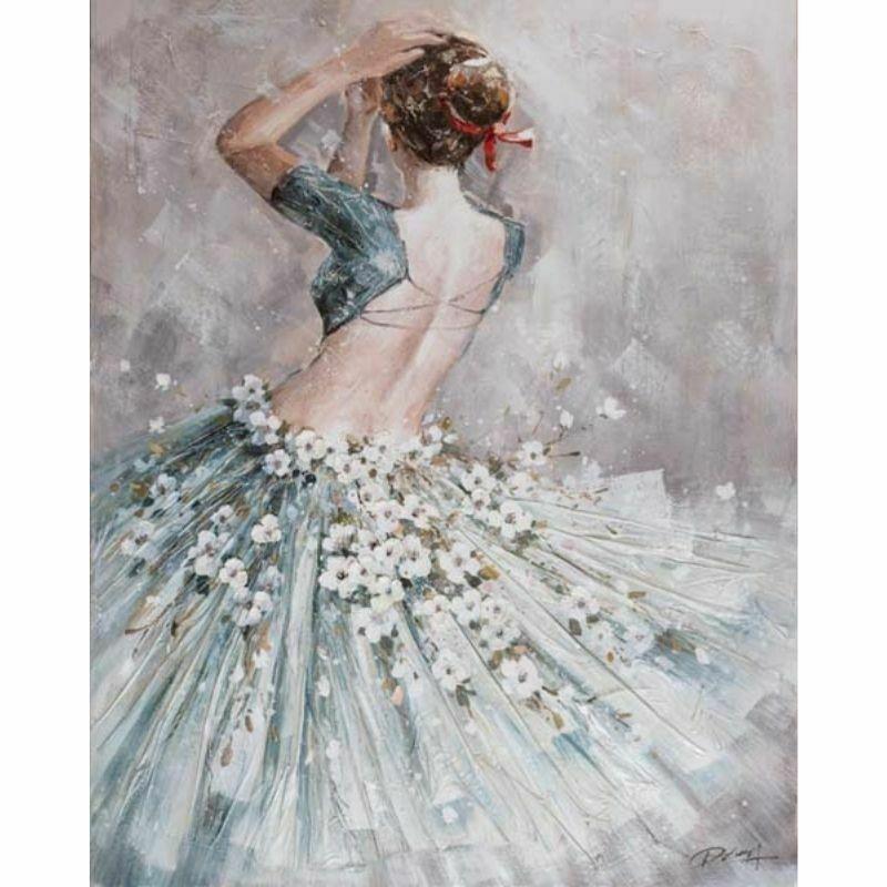 Mujer Bailarina de Espalda